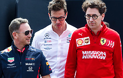 May 25, 2019 - Montecarlo, Monaco - Christian Horner, Toto Wolff and Mattia Binotto team principals during the qualification session at Formula 1 Grand Prix de Monaco on May 25, 2019 in Monte Carlo, Monaco. (Credit Image: © Robert Szaniszlo/NurPhoto via ZUMA Press)