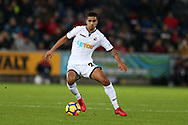 Kyle Naughton of Swansea city in action. Premier league match, Swansea city v West Bromwich Albion at the Liberty Stadium in Swansea, South Wales on Saturday 9th December 2017.<br /> pic by  Andrew Orchard, Andrew Orchard sports photography.