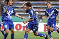 Fotball<br />Argentina<br />11/10/03 VELEZ SARSFIELD (1) Vs NUEVA CHICAGO (0)<br />Ninth match of the Torneo Apertura 2003<br />OBOLDO ,  BUSTOS ,  ZÁRATE (velez)<br />Foto: Digitalsport