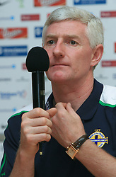Coach of Northern Ireland Nigel Worthington at press conference after the qualification game FIFA WORLD CUP SOUTH AFRICA 2010 in Group 3 between Slovenia and Northern Ireland at Ljudski vrt Stadion, on October 11, 2008, in Maribor, Slovenia. Slovenia won 2:0. (Photo by Vid Ponikvar / Sportal Images)
