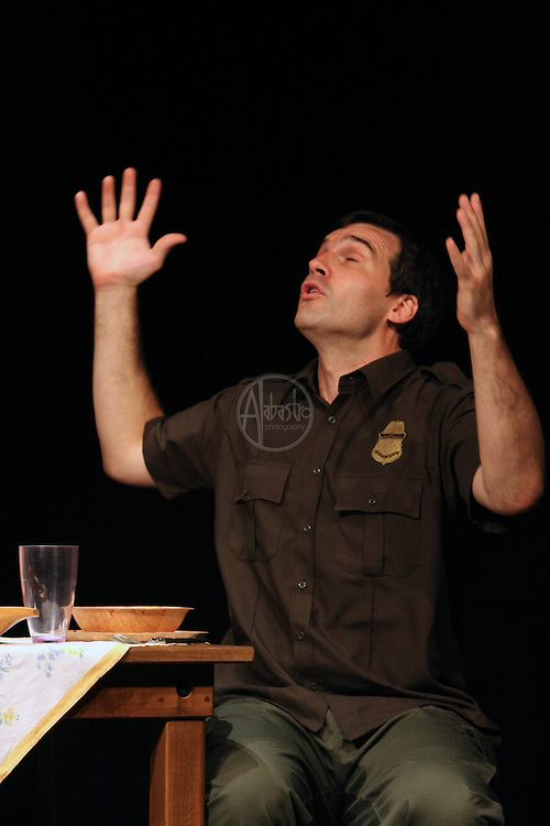"""Book-It Repertory Theatre's adaptation of """"Border Songs"""" by Jim Lynch.  Center House Theater, September 2011."""