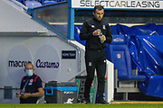 Luton Town manager Nathan Jones during the EFL Cup match between Reading and Luton Town at the Madejski Stadium, Reading, England on 15 September 2020.