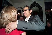 KATE PAKENHAM; JEFF GOLDBLUM, The Old Vic at the Vaudeville Theatre ' The Prisoner of Second Avenue'  press night. After-party at Jewel. 13 July 2010. -DO NOT ARCHIVE-© Copyright Photograph by Dafydd Jones. 248 Clapham Rd. London SW9 0PZ. Tel 0207 820 0771. www.dafjones.com.