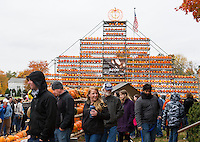 Thousands came to downtown Laconia for the Pumpkin Fest on Saturday.  (Karen Bobotas/for the Laconia Daily Sun)