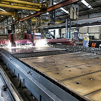 TATA Steel Park Wednesfield - Images of the Prolfiling  Centre , Centre Offices and  Automotive Service Centre