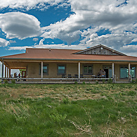 Staff and guests enjoy an open house at the Enrico Education & Science Center on the American Prairie Reserve in Phillips County, Montana.