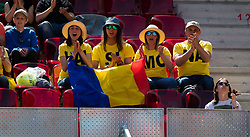 May 5, 2019 - Madrid, MADRID, SPAIN - Simona Halep Fans in action during her first-round match at the 2019 Mutua Madrid Open WTA Premier Mandatory tennis tournament (Credit Image: © AFP7 via ZUMA Wire)
