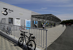 June 14, 2018 - Samara, Russia - June 14, 2018. - Russia, Samara. - Samara Arena, a venue for the 2018 FIFA World Cup matches. In picture: entrance for fans. (Credit Image: © Russian Look via ZUMA Wire)
