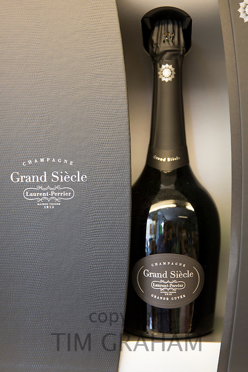 Champagne Laurent-Perrier Grand Siecle in commemorative bottle on sale in  Epernay, Champagne-Ardenne, France
