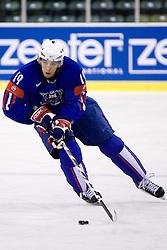 Ziga Pance of Slovenia  at ice-hockey friendly match between National teams of Slovenia and Denmark, on April 14, 2010, in Tivoli hall, Ljubljana, Slovenia. Denmark defeated Slovenia 5-3. (Photo by Vid Ponikvar / Sportida)