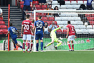 Goal - Abel Hernandez (10) of Hull City scores the equalising goal to make the score 4-4 during the EFL Sky Bet Championship match between Bristol City and Hull City at Ashton Gate, Bristol, England on 21 April 2018. Picture by Graham Hunt.