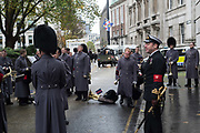 COLDSTREAM GUARDS, Lord Mayor's show London. 11 November 2017.