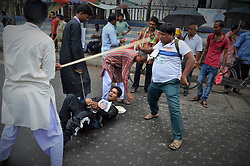 July 19, 2017 - Siliguri, West Bengal, India - Amra Bangali organisation conducted their Mass rally in Siliguri west Bengal India against Gorkha Land on 19-7-2017..Amra Bangali organisation has asserted that anyone ralling for Gorkha Land should stopped physically. (Credit Image: © Sandip Saha/Pacific Press via ZUMA Wire)
