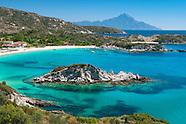 Enjoying the clear blue sea, beaches, village and Greek food at Halkidiki, Greece