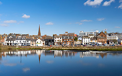 View of Dumfries on River Nith in Dumfries and  Galloway, Scotland, UK