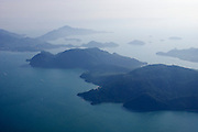 Malaysia, Langkawi. View from aboard an AirAsia Airbus A320 starting from the airport.