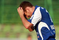 Konstantin Vassiljev (14) of Nafta at 7th Round of PrvaLiga Telekom Slovenije between NK Interblock vs NK Nafta Lendava, on September , 2008, in ZAK stadium in Ljubljana, Slovenia. Interblock won the match 3:1. (Photo by Vid Ponikvar / Sportal Images)