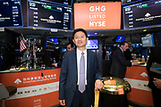 Greentree Hospitality Group IPO at the New York Stock Exchange on March 27, 2018 on Wall Street in New York City Greentree Hospitality Group IPO at the New York Stock Exchange on March 27, 2018 on Wall Street in New York City
