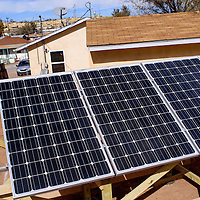 A solar panel installation at a north side Gallup home is part of an ongoing class project for a UNM-Gallup construction course.