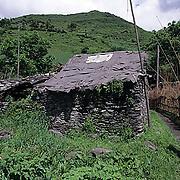 China, People, Tibetan farmer's houses. Sichuan, China.