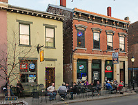 People dining on the patio in Mainstrasse