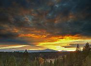 Sunset over Camp Polk Meadow