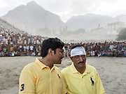 Polo players. Pakistan's Independance Day celebration (14th August), on the Polo ground in Skardu town, Baltistan region.