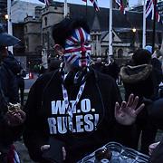 London, UK. 31 January 2020, Pro-Brexit demonstraton Day of Brexit, Westminster, London, UK