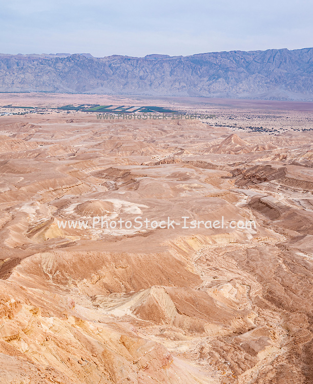 Uvda Desert Landscape. Uvda is the name of a region in the southern Negev desert, directly north of Eilat, Israel The Uvda Valley is known for the 7000-year-old Uvda Leopard Temple and other prehistoric sites