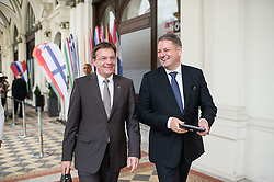 26.05.2014, OeVP Bundespartei, Wien, AUT, OeVP, Vorstandssitzung der OeVP Bundespartei. im Bild v.l.n.r. Landeshauptmann Tirol Guenther Platter OeVP und Bundesminister fuer Land- und Forstwirtschaft, Umwelt und Wasserwirtschaft Andrae Rupprechter (OeVP) // f.l.t.r. Governor of Tyrol Guenther Platter and Minister of Agriculture Andrae Rupprechter (OeVP) after board meeting of OeVP at federal party of OeVP in Vienna, Austria on 2014/05/26. EXPA Pictures © 2014, PhotoCredit: EXPA/ Michael Gruber