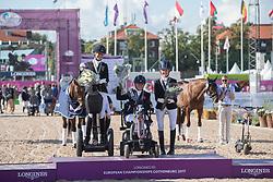 Hext Suzanna, GBR, Schmidt Claudia, GER, Frances Orford Erin, GBR<br /> FEI European Para Dressage Championships - Goteborg 2017 <br /> © Hippo Foto - Dirk Caremans<br /> 22/08/2017,