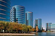 Oracle corporate headquarter office buildings, Redwood City, California
