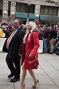 ANDREA CATSIMATISIS; JOHN  CATSIMATIDIS; Public going to the Inauguration of Donald Trump and demonstrators and various entrances,  Washington DC. 20  January 2017
