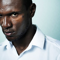 LYON, FRANCE. JUNE 25, 2011. Soccer player Eric Abidal in a room at the Hilton Hotel. (photo: Antoine Doyen)