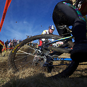 Competitors tackle the course during the thrills and spills of the New Zealand Cyclocross Championships sponsored by AJ Hackett Bungy, held at Jardine Park,  Queenstown, as part of the Queenstown WInter Festival. The men's event was won by Dan Warren from Hastings while Anja McDonald from Dunedin won the women's event. Queenstown, New Zealand, 2nd July 2011