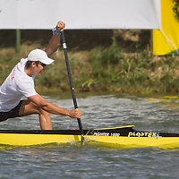 Vladimir Fedosenko from Russia paddles his boat in the C1 men Kayak 500m final of the 2011 ICF World Canoe Sprint Championships held in Szeged, Hungary on August 20, 2011. ATTILA VOLGYI