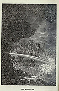 The Boiling Jet from the book ' A journey to the centre of the earth ' by Jules Verne (1828-1905) Published in New York by Scribner, Armstrong & co 1874