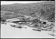 """Ackroyd 03720-6 """"Aerials. July 5, 1952"""" (5x7"""") """"Portland Gas & Coke."""" (Gasco, DEQ site ID 84, south of St. Johns bridge)"""