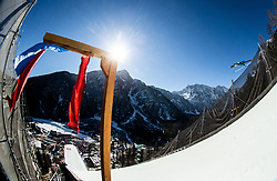 Domen Prevc (SLO) soaring through the air during the Ski Flying Hill Team Competition at Day 3 of FIS Ski Jumping World Cup Final 2019, on March 23, 2019 in Planica, Slovenia. Photo by Vid Ponikvar / Sportida