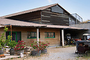 Domaine Peyre Rose, St Pargoire. Gres de Montpellier. Languedoc. The winery building. France. Europe.