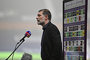 West Bromwich Albion manager Slaven Bilic  interviewed by Sky Sports during the Premier League match between West Bromwich Albion and Sheffield United at The Hawthorns, West Bromwich, England on 28 November 2020.