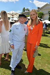 Jackie Stewart and Carmen Jorda at the Cartier Style et Luxe at the Goodwood Festival of Speed, Goodwood, West Sussex, England. 2 July 2017.<br /> Photo by Dominic O'Neill/SilverHub 0203 174 1069 sales@silverhubmedia.com