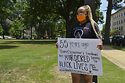 Today at the Mississippi State Capitol. Truth spoken to power by demonstrators in support of Black Lives Matter and the murder of George Floyd and police brutality and systematic racism. In the past 6 days protests and riots have broken out across America in response to the brutal killing of an unarmed African American man by the knee and hands of Minnesota Police <br />