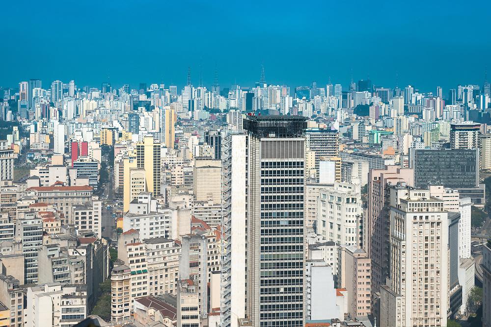 Panoramic view of downtown Sao Paulo, Brazil, South America
