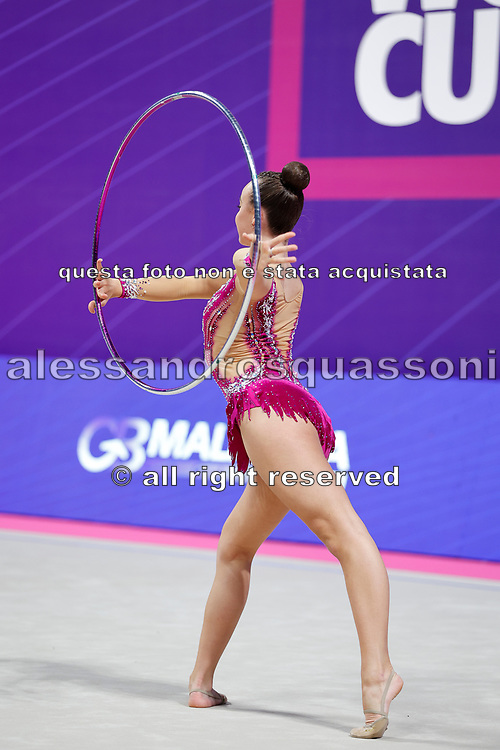 Juul Moeller Josephine from Norway is competing in the Rhythmic Gymnastics World Cup at Vitrifrigo Arena on 28/29 May 2021, Pesaro, Italy. She was born in Asker on January 18, 2003.<br /> .