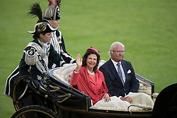 Her Majesty Queen Silvia and King Harald of Sweden<br /> Opening Ceremony<br /> CHIO Aachen 2016<br /> © Hippo Foto - Dirk Caremans<br /> 12/07/16