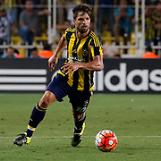 Fenerbahce's Diego during their UEFA Champions league third qualifying round first leg soccer match Fenerbahce between Shakhtar Donetsk at the Sukru Saracaoglu stadium in Istanbul Turkey on Tuesday 28 July 2015. Photo by Aykut AKICI/TURKPIX