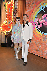 NATASHA KAPLINSKY and JUSTIN BOWER at a Night of Disco in aid of Save The Children held at The Roundhouse, Chalk Farm Road, London on 5th March 2015.