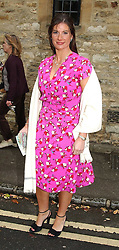 The HON.SELINA TOLLEMACHE at the wedding of Hugh van Cutsem to Rose Astor in Burford, Oxfordshire on 4th June 2005.<br />