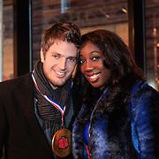 NLD/Haarlem/20121208 - Premiere Wreck - It Ralph, Pearl Jozefzoon en partner Renze Klamer